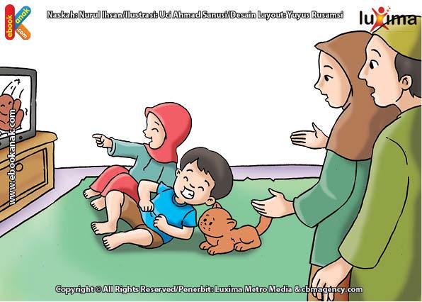 ilustrasi seri belajar islam sejak usia dini mengenal islam agamaku, Hati-Hati, Tertawa Berlebihan Dapat Mematikan Hati