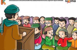 ilustrasi seri belajar islam sejak usia dini mengenal islam agamaku, Pahala Shalat Jumat Akan Sia-Sia Jika Menegur Seseorang Saat Khatib Sedang Khutbah