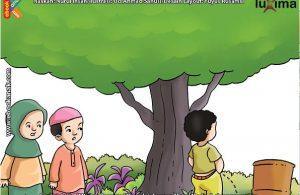 ilustrasi seri belajar islam sejak usia dini mengenal islam agamaku, Pipis Sembarangan Salah Satu Penyebab Siksa Kubur