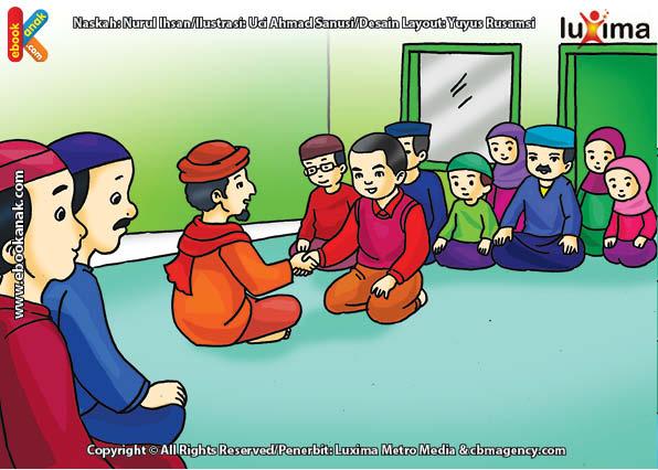 ilustrasi seri belajar islam sejak usia dini mengenal rukun islam, Bacaan Syahadat Selalu Dibaca Setiap Shalat