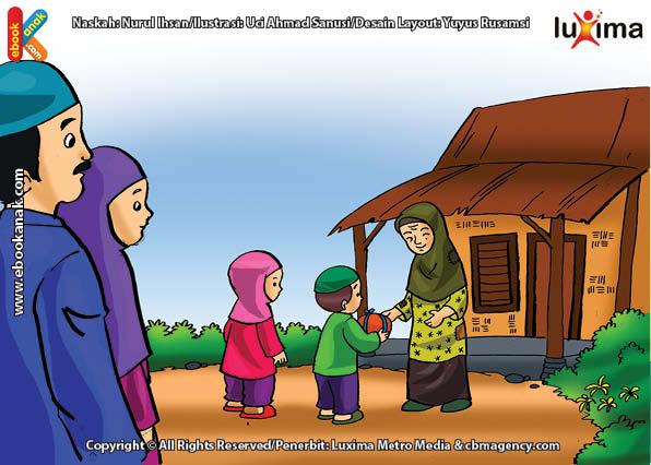ilustrasi seri belajar islam sejak usia dini mengenal rukun islam, Orang Miskin Salah Satu yang Berhak Menerima Zakat