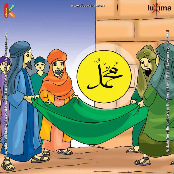 ilustrasi seri belajar islam sejak usia dini nabi muhammad idolaku, Apa yang Dilakukan Nabi Muhammad Saat Pemugaran Kabah