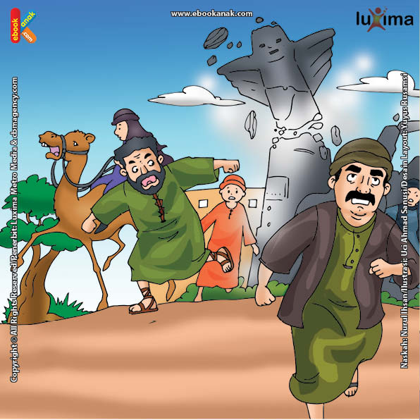 ilustrasi seri belajar islam sejak usia dini nabi muhammad idolaku, Kenapa Patung-Patung Berhala di Kabah Tiba-Tiba Berjatuhan