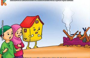 ilustrasi seri belajar sejak usia dini mengenal rukun iman, Rumah Bisa Roboh Jika Tanpa Pondasi dan Dinding Tembok
