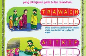 seri belajar islam sejak usia dini, Ayo Berpuasa, Lembar Aktivitas PAUD TK Amalan Sunah di Bulan Ramadhan