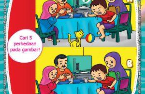 seri belajar islam sejak usia dini, Ayo Berpuasa, Lembar Aktivitas PAUD TK Mencari Perbedaan pada Gambar