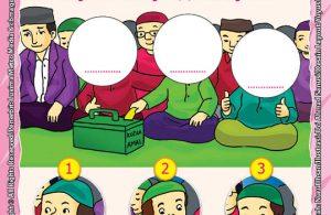 ebook seri belajar islam sejak usia dini Aku Senang Bersedekah, Lembar Aktivitas PAUD TK Melengkapi Gambar yang Hilang dengan Angka
