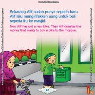 ebook seri belajar islam sejak usia dini Aku Suka Berdoa, Alif Memasukkan Uang ke Kotak Infaq Masjid