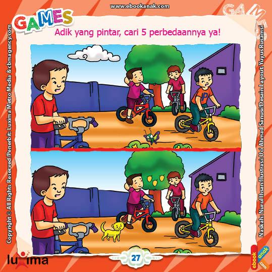 Lembar Aktivitas Paud Tk Mencari Perbedaan Gambar Ebook Anak