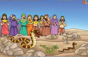ilustrasi cinta nabi pahlawanku, Bagaimana Cara Nabi Musa Menaklukkan Ular-Ular Para Penyihir Firaun