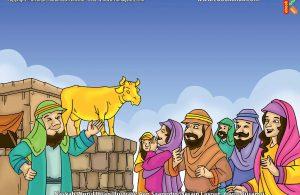 ilustrasi cinta nabi pahlawanku, Bagaimana Cara Samiri Membuat Patung Anak Sapi yang Bisa Bersuara