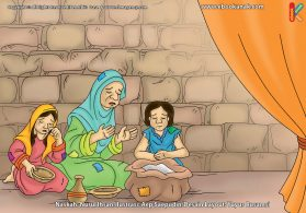 ilustrasi cinta nabi pahlawanku, Doa Ibu Pembeli Gandum Agar Didatangkan Seorang Nabi ke Negeri Madyan