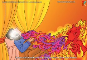 ilustrasi cinta nabi pahlawanku, Iblis Meniupkan Penyakit Berat Bertahun-tahun ke Tubuh Nabi Ayyub