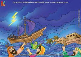 ilustrasi cinta nabi pahlawanku, Istri dan Putra Nabi Nuh Tewas Tenggelam Diterjang Banjir