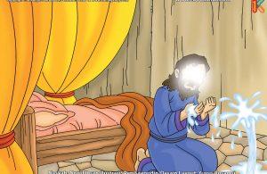 ilustrasi cinta nabi pahlawanku, Kemunculan Air Ajaib dari dalam Tanah Pengobat Penyakit Nabi Ayyub