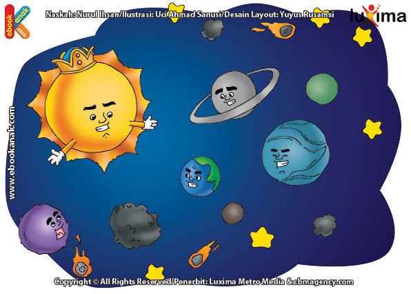 ilustrasi rahasia keajaiban ruang angkasa, Keluarga Benda di Langit Disebut Tata Surya