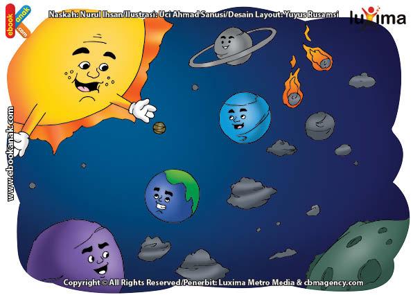 ilustrasi rahasia keajaiban ruang angkasa, Semua Planet di Tata Surya Selalu Berkeliling Sesuai Jalurnya