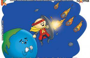 ilustrasi rahasia keajaiban ruang angkasa, Ternyata Setiap Hari Ada Jutaan Meteor Jatuh ke Bumi