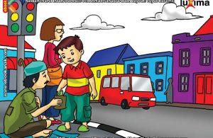 Alif Bersedekah kepada Seorang Pengemis Buta di Jalan