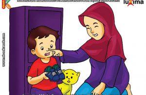 ilustrasi seri belajar islam sejak usia dini aku senang bersedekah, Jangan Ragu-Ragu Jika Mau Bersedekah
