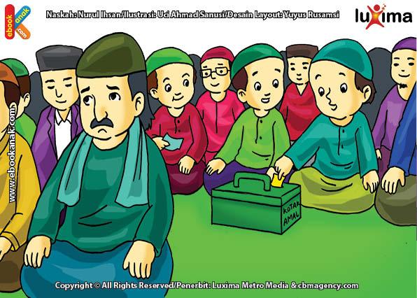 ilustrasi seri belajar islam sejak usia dini aku senang bersedekah, Kenapa Alif Ragu-Ragu Ketika Akan Memberi Infaq