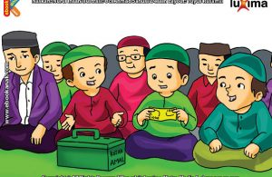 ilustrasi seri belajar islam sejak usia dini aku senang bersedekah, Sedekah dan Infaq Itu Tidak Dilihat dari Nilainya, Tapi Keikhlasannya