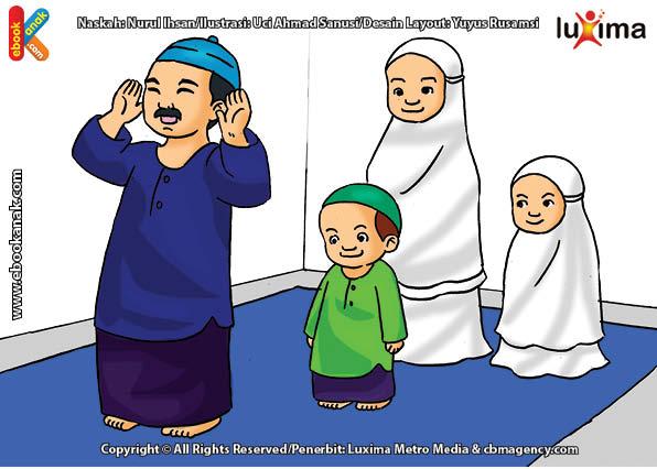 ilustrasi seri belajar islam sejak usia dini aku suka berdoa, Alif Bisa Berdoa Kapan Saja, Namun Sebaiknya Berdoa Selesai Shalat