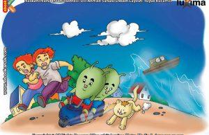 ilustrasi seri sains anak mengenal alam semesta rahasia keajaiban lautan, Bagaimana Proses Terjadinya Tsunami