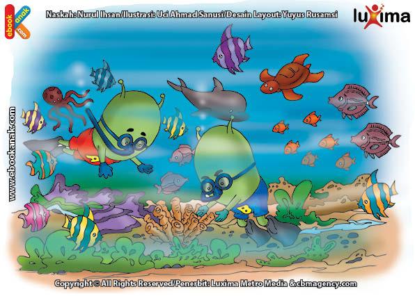 ilustrasi seri sains anak mengenal alam semesta rahasia keajaiban lautan, Di Manakah Lokasi Taman Laut Terindah di Dunia