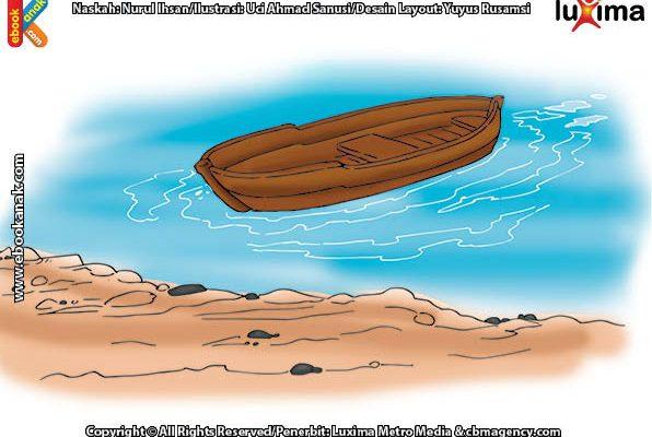ilustrasi seri sains anak mengenal alam semesta rahasia keajaiban lautan, Inilah Penyebab Air Laut Bisa Pasang Surut