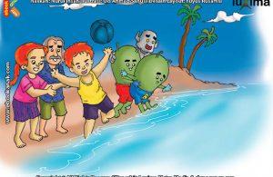 ilustrasi seri sains anak mengenal alam semesta rahasia keajaiban lautan, Kenapa Tidak Semua Perairan di Daratan Disebut Lautan