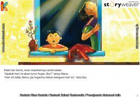 02 Illustrasi buku cerita Jas Hujan, Hari yang Cerah