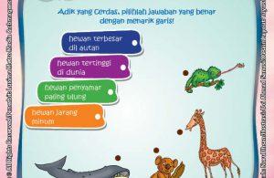 Rahasia Keajaiban hewan, Lembar Aktivitas PAUD TK Belajar Menarik Garis