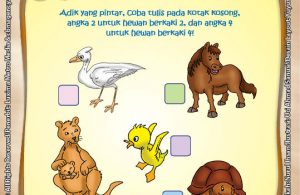 Lembar Aktivitas PAUD TK Mengenal Hewan Berkaki 2 dan 4