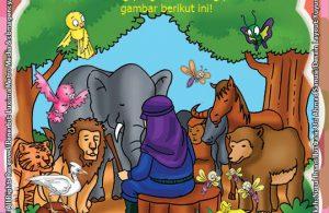 ebook Mengenal Nabi dan Rasul, Lembar Aktivitas PAUD TK Melingkari Gambar Binatang