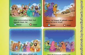 ebook cinta nabi pahlawanku, Lembar Aktivitas PAUD TK Memilih Kalimat Benar Tentang 25 Nabi dan Rasul (2)
