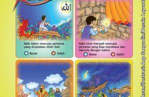 ebook cinta nabi pahlawanku, Lembar Aktivitas PAUD TK Memilih Kalimat Benar Tentang 25 Nabi dan Rasul