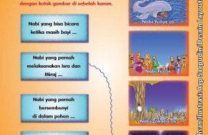 ebook cinta nabi pahlawanku, Lembar Aktivitas PAUD TK Menghubungkan Gambar Kisah 25 Nabi dan Rasul (1)