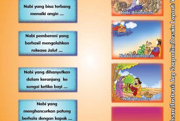 ebook cinta nabi pahlawanku, Lembar Aktivitas PAUD TK Menghubungkan Gambar Kisah 25 Nabi dan Rasul (2)