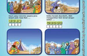 ebook cinta nabi pahlawanku, Lembar Aktivitas PAUD TK Puzzle Huruf Mengenal 25 Nabi dan Rasul
