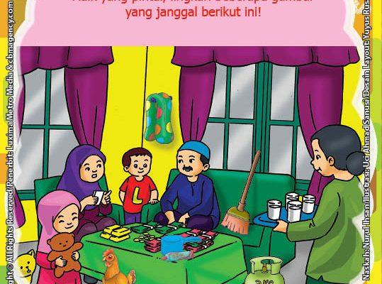 ebook seri belajar islam sejak usia dini Ayo Belajar Manasik Haji, Lembar Aktivitas PAUD TK Melingkari Gambar yang Janggal Manasik Haji