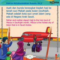 ebook seri belajar islam sejak usia dini Ayo Belajar Manasik Haji, Pada Bulan Apa Umat Muslim Melaksanakan Ibadah Haji