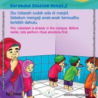 ebook seri belajar islam sejak usia dini Ayo Belajar Mengaji, Anak-Anak Berwudhu Sebelum Belajar Mengaji