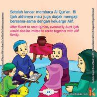 ebook seri belajar islam sejak usia dini Ayo Belajar Mengaji, Bi Ijah Akhirnya Mau Diajak Mengaji Bersama Keluarga Alif