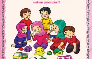 ebook seri belajar islam sejak usia dini Ayo Belajar Mengaji, Lembar Aktivitas PAUD TK Mengenal Mainan Laki-Laki dan Perempuan