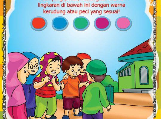 ebook seri belajar islam sejak usia dini Ayo Belajar Mengaji, Lembar Aktivitas PAUD TK Mengenal Warna Benda