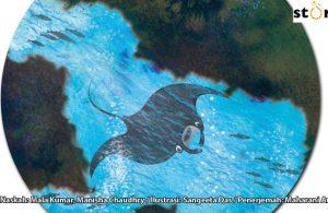 ilustrasi buku cerita petualangan pishi si pari manta, Inilah Alasan Pari Manta Suka Mengunjungi Terumbu Karang