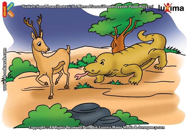 ilustrasi rahasia keajaiban hewan, Apakah Nama Kadal Terbesar di Dunia