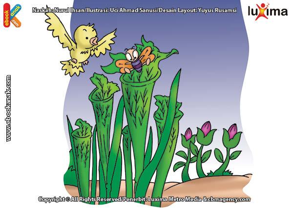 ilustrasi rahasia keajaiban tumbuhan, Apakah Nama Tumbuhan yang Suka Menjebak Serangga