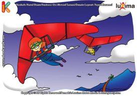 ilustrasi rahasia keajaiban udara, Bagaimana Cara Angin Menggerakkan Layang Gantung